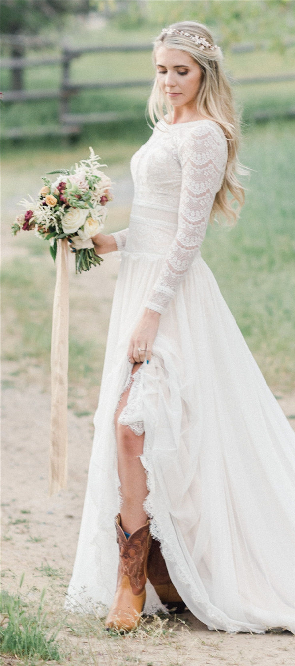 Fall in Love with These Charming Rustic Wedding Dresses
