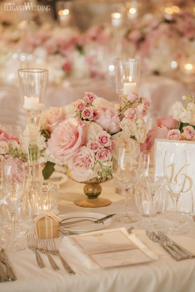 Blush Pink and Gold Wedding Color Inspirations