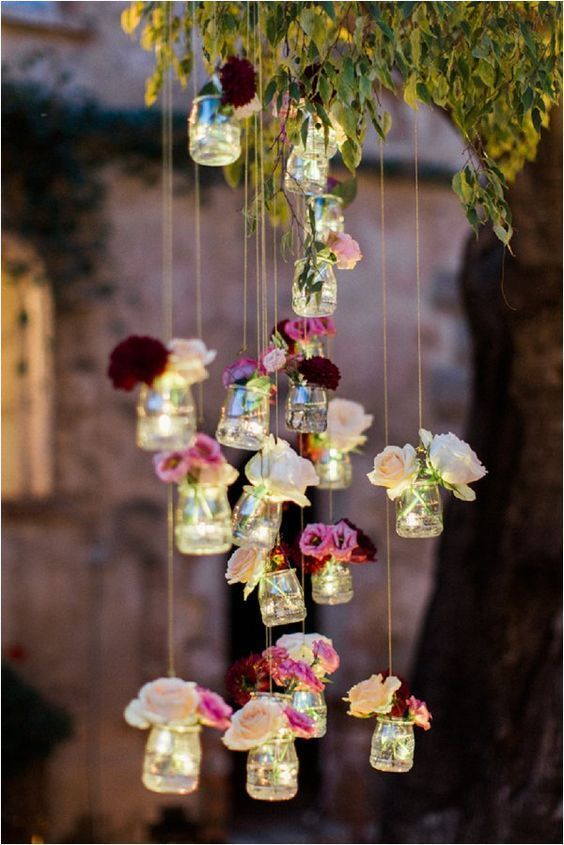 Breathtaking Hanging Wedding Decorations to Rock