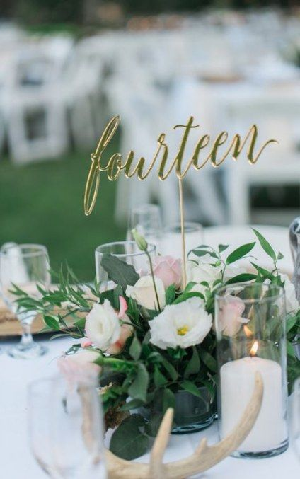 Creative Wedding Table Number Ideas to Stand Out
