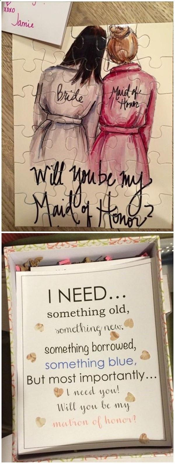 Fun and Creative Bridesmaid proposal ideas